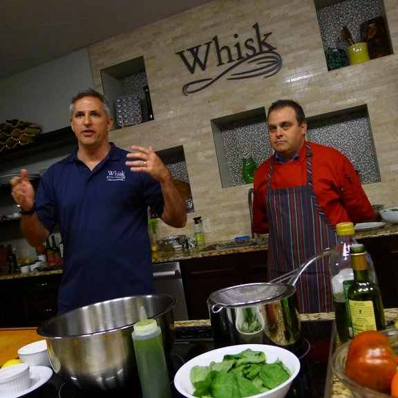 Owner Dan and Chef Jeff at Whisk in Cary, NC Triangle Dining