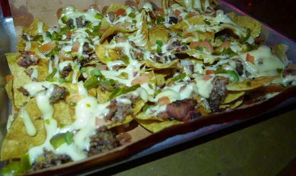 Nachos with pork and brisket at Blue Oak BBQ, New Orleans- NC Triangle Dining