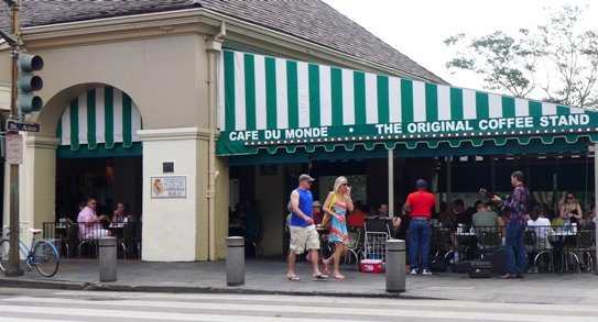 Exterior of Cafe Du Monde, New Orleans- NC Triangle Dining