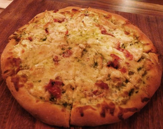 Chicken pesto pizza at Clockwork, Raleigh- NC Triangle Dining