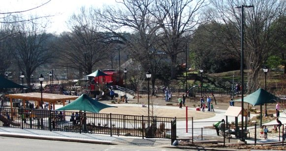 Play area at Pullen Park, Raleigh- NC Triangle Dining