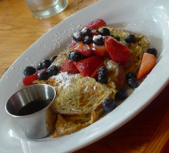 French toast at Rue Cler in Durham, NC Triangle Dining