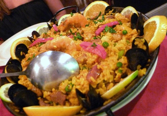 Paella valenciana at Tasca Brava in Raleigh- NC Triangle Dining