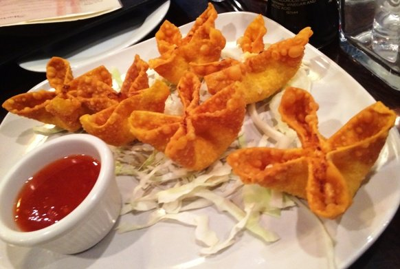 Crab rangoon at Sushi O Bistro, Raleigh- NC Triangle Dining