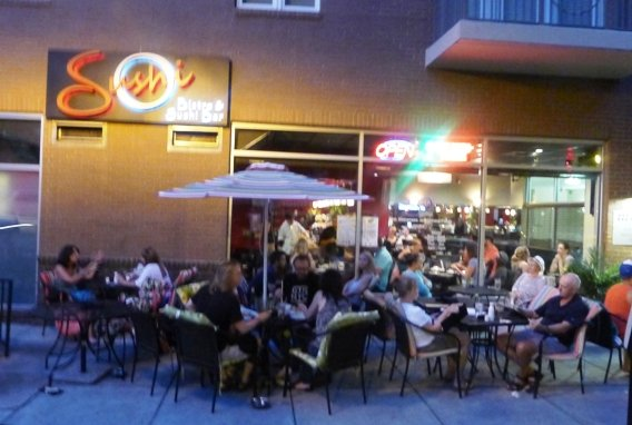 Front of Sushi O Bistro, Raleigh- NC Triangle Dining
