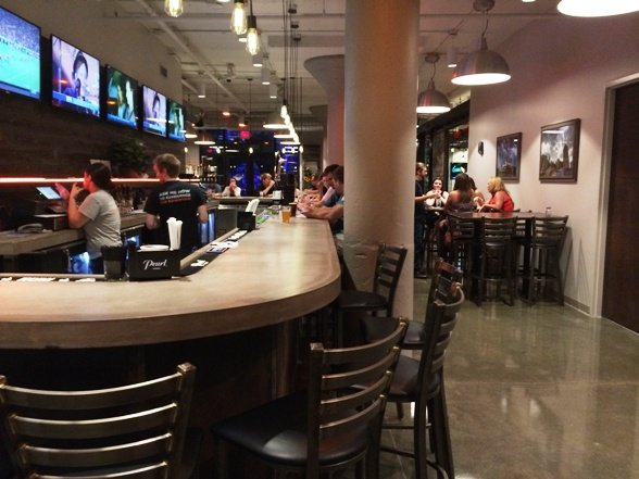 Bar at Clouds Brewing, Raleigh- NC Triangle Dining