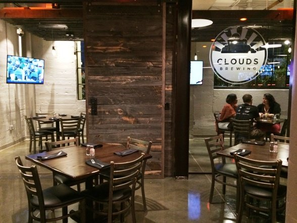 Private room at Clouds Brewing, Raleigh- NC Triangle Dining