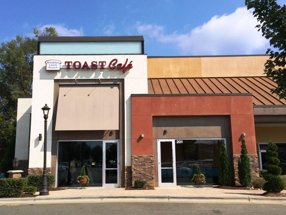 Front of Toast Cafe, Cary- NC Triangle Dining