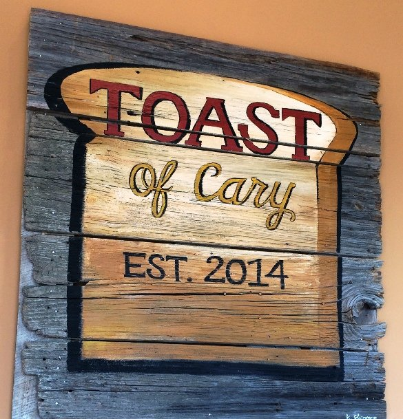 Sign for Toast Cafe, Cary- NC Triangle Dining