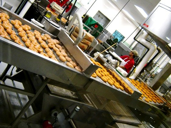 Donut making at Krispy Kreme in Raleigh- NC Triangle Dining