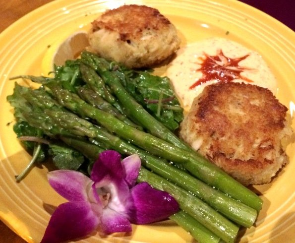 Crab cakes at Tupelo Honey Cafe, Raleigh- NC Triangle Dining