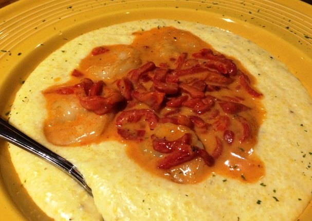 Shrimp and grits at Tupelo Honey Cafe, Raleigh- NC Triangle Dining