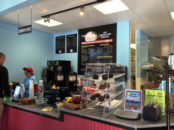 Counter at Duck Donuts in Cary- NC Triangle Dining
