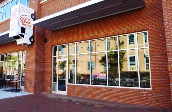 Front of Only Burger ATC, Durham- NC Triangle Dining