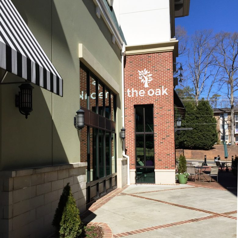 Entryway to the Oak in Raleigh- NC Triangle Dining