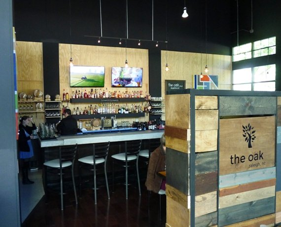 Bar at the Oak in Raleigh- NC Triangle Dining