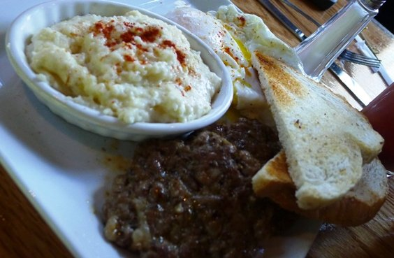 Breakfast plate at the Oak in Raleigh- NC Triangle Dining