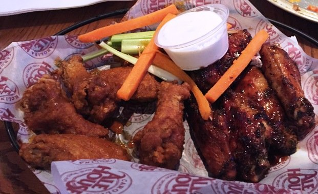 Barbeque wings at the new Carolina Ale House, Downtown Raleigh- NC Triangle Dining