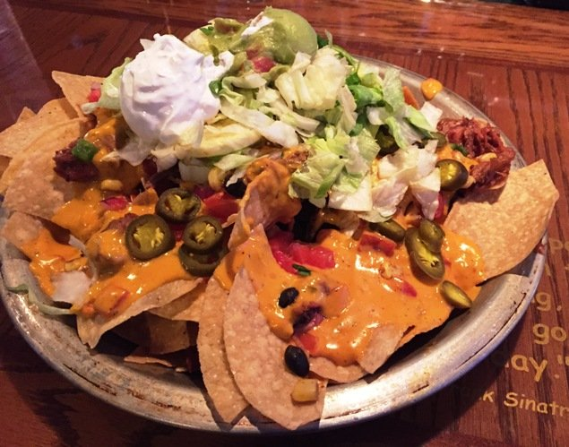 Nachos at the new Carolina Ale House, Downtown Raleigh- NC Triangle Dining
