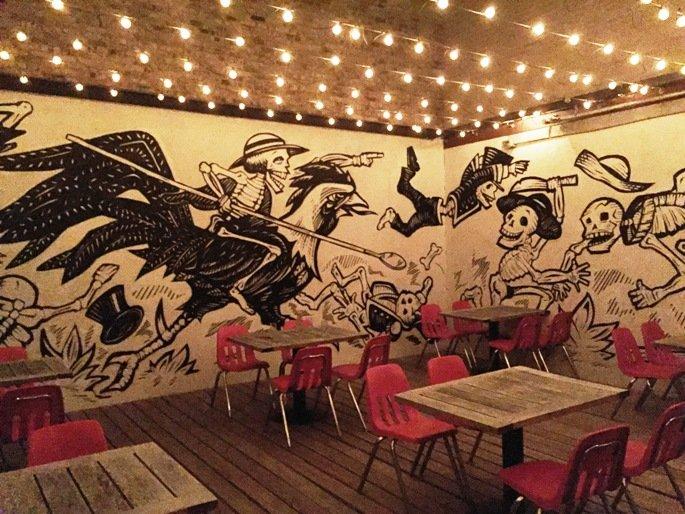 Patio at Gallo Pelon Mezcaleria, Raleigh- NC Triangle Dining