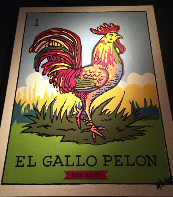Sign at Gallo Pelon Mezcaleria, Raleigh- NC Triangle Dining