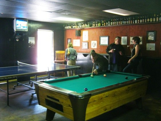 Game room at Big Boss Brewing in Raleigh- NC Triangle Dining
