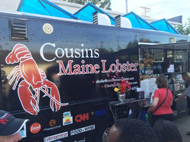 Cousins Maine Lobster food truck at Nickelpoint Brewery, Raleigh- NC Triangle Dining