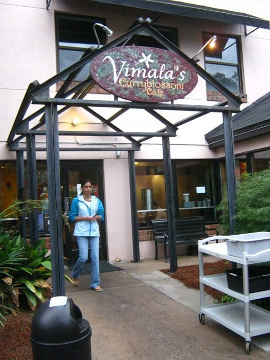 Entry-way to Vimala's Curryblossom Cafe, Chapel Hill- NC Triangle Dining