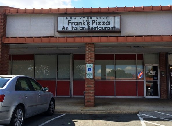 Front of Frank's Pizza, Raleigh- NC Triangle Dining