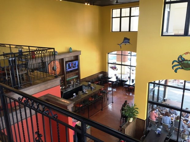 View from 2nd floor at Guacamaya in Cary, NC Triangle Dining