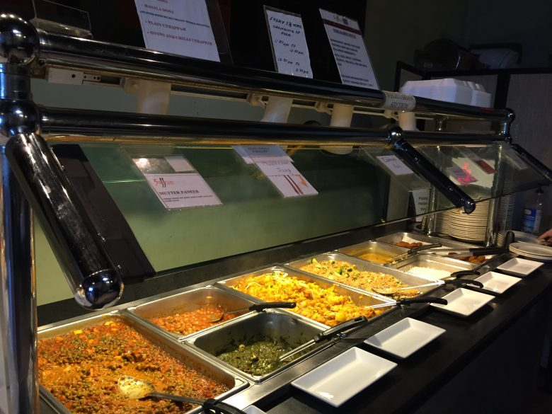 Vegetarian side of lunch buffet at Saffron in Morrisville- NC Triangle Dining