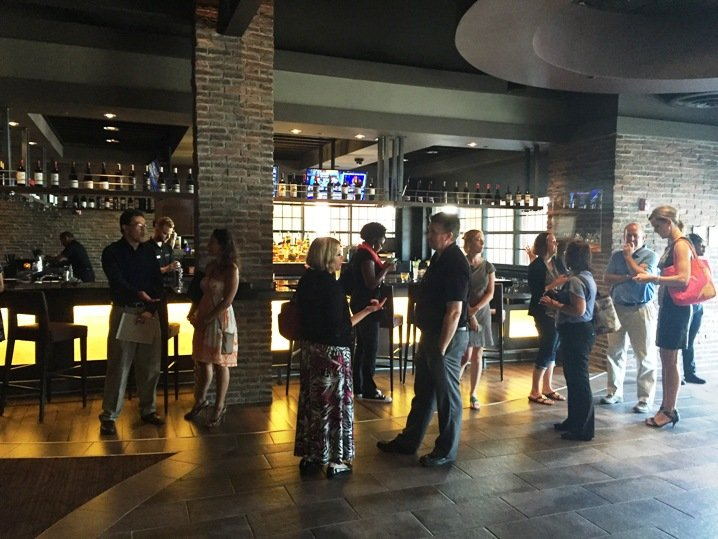 Bloggers and media at Cinebistro in Cary- NC
