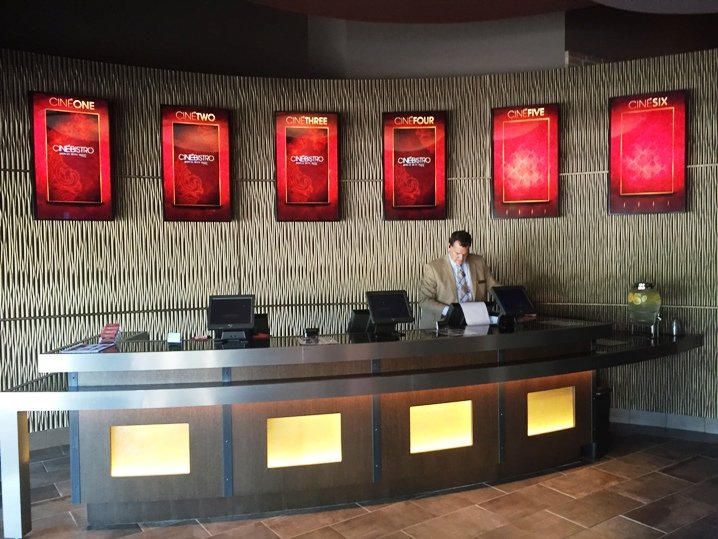 Ticketing area at Cinebistro in Cary- NC Triangle Dining