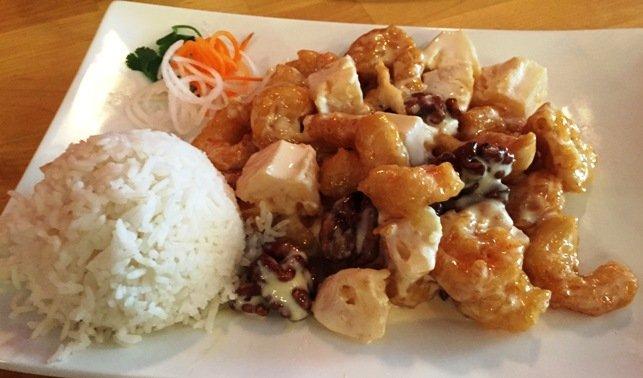 Candy walnut shrimp at Goji Bistro, Cary- NC Triangle Dining