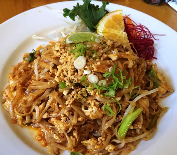 Pad thai with chicken at Wasabi in Cary, NC Triangle Dining