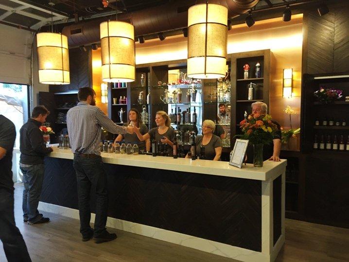 Tasting bar at the Durham Distillery - NC Triangle Dining