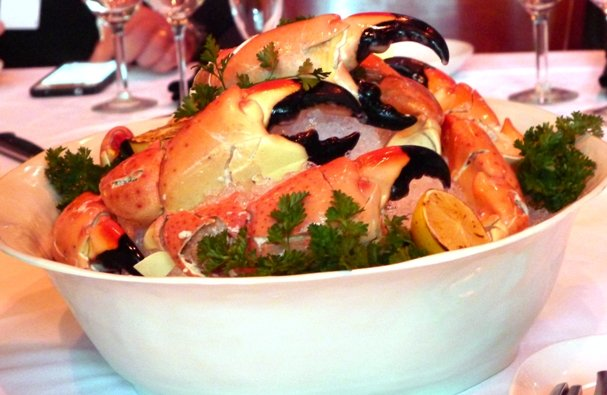 Colossal stone crab claws at Sullivan's Steakhouse in Raleigh- NC Triangle Dining
