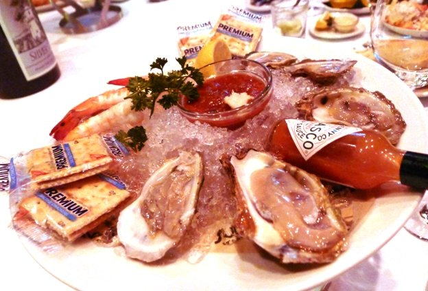 Oyster plate at Sullivan's Steakhouse in Raleigh- NC Triangle Dining