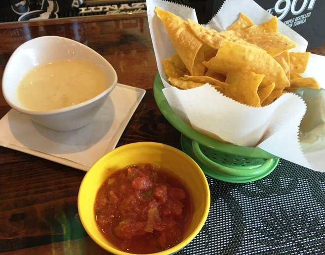 Chips and queso at Gonza Tacos y Tequila in Raleigh- NC Triangle Dining