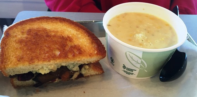 Soup and sandwich at Nashers Sandwich House, Raleigh