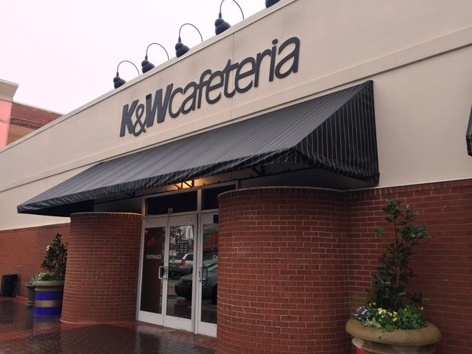Front of K&W Cafeteria in Raleigh- NC Triangle Dining