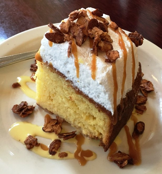 Tres leches cake at MEZ, Durham- NC Triangle Dining
