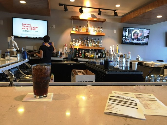 2nd floor bar at Cantina 18 in Raleigh- NC Triangle Dining