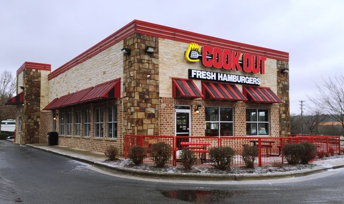 Front of Cook Out RTP, Durham- NC Triangle Dining