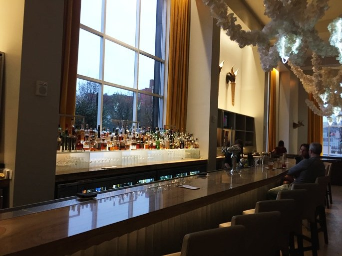 Bar at 21C Museum Hotel in Durham- NC Triangle Dining