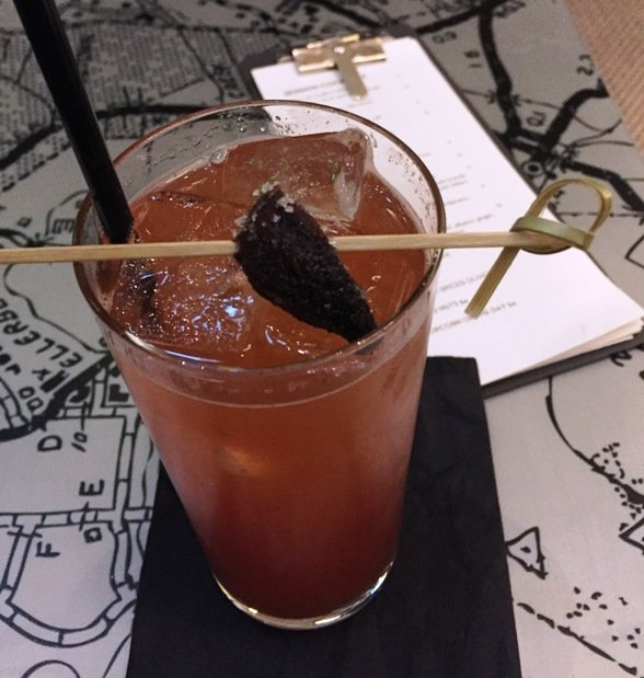 Cocktail at 21C Museum Hotel in Durham- NC Triangle Dining