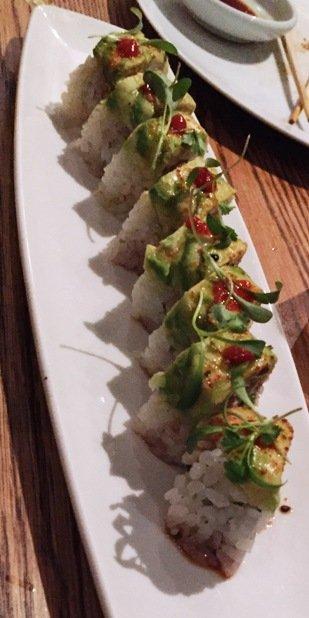 Omakase roll at Kumi at Mandalay Bay in Las Vegas- NC Triangle Dining