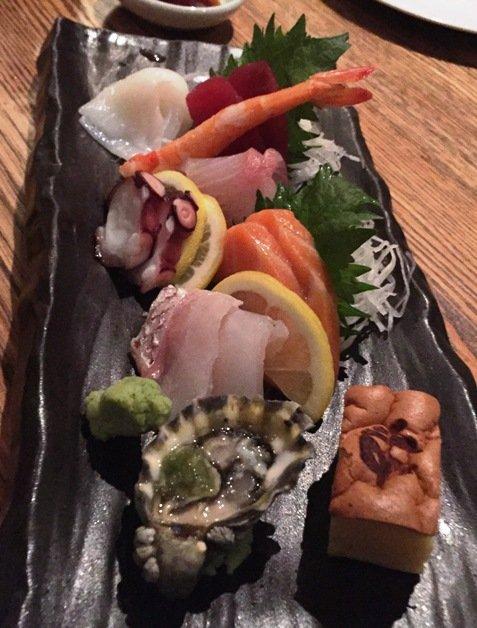 Nigiri plate at Kumi at Mandalay Bay in Las Vegas- NC Triangle Dining