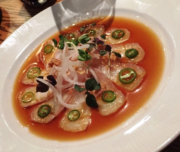 Salmon carpaccio at Kumi at Mandalay Bay in Las Vegas- NC Triangle Dining