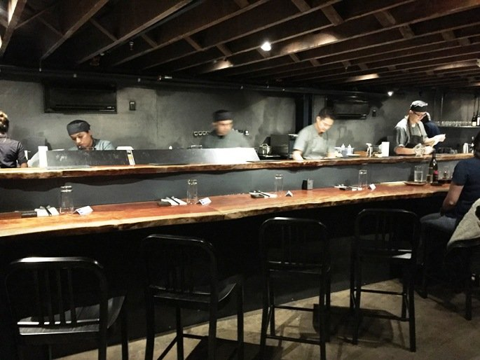 Sushi bar at M Sushi, Durham- NC Triangle Dining